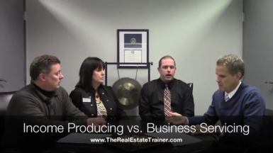 Income Producing v Business Servicing panel